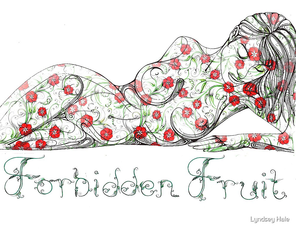 Forbidden fruit horizontal by Lyndsey Hale