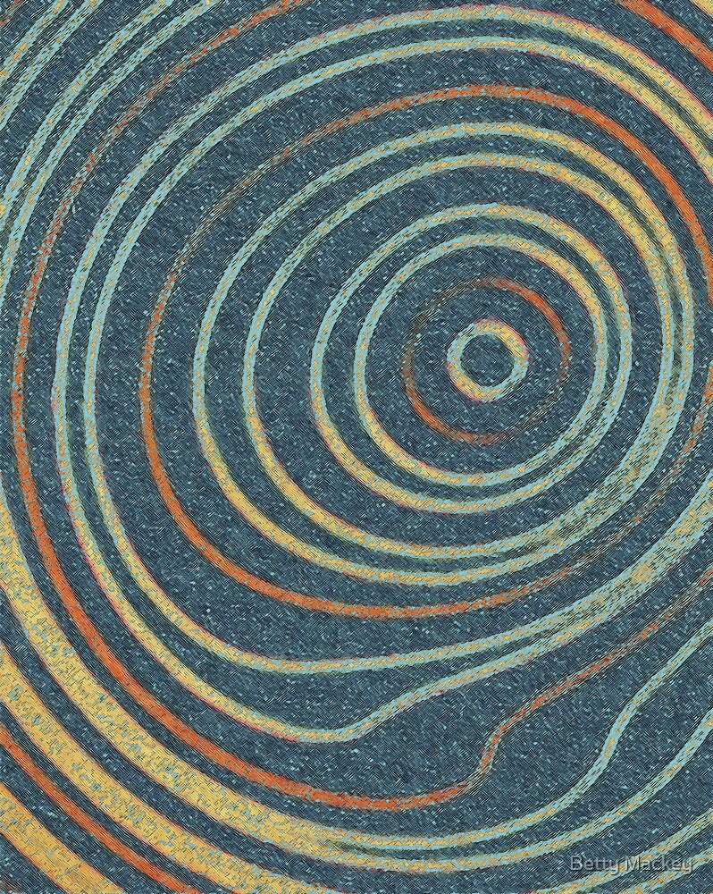 Curved Stripes by Betty Mackey