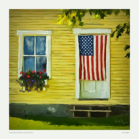 Constrained Patriotism, Cushion Maine by Dave  Higgins