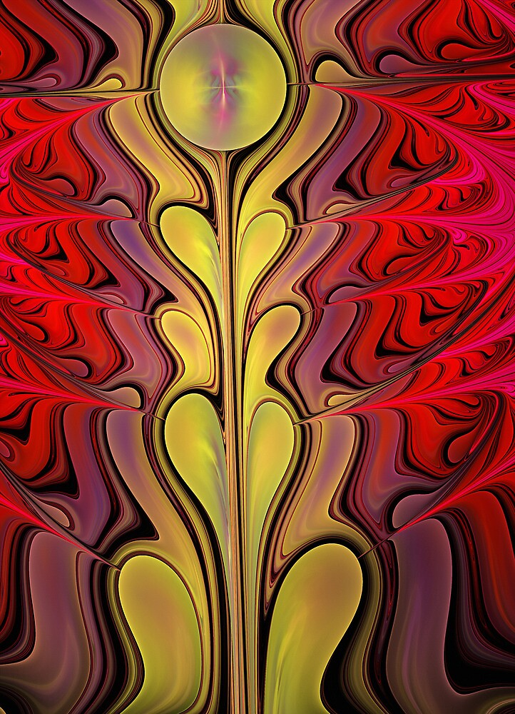 Growth, abstract fractal art by walstraasart