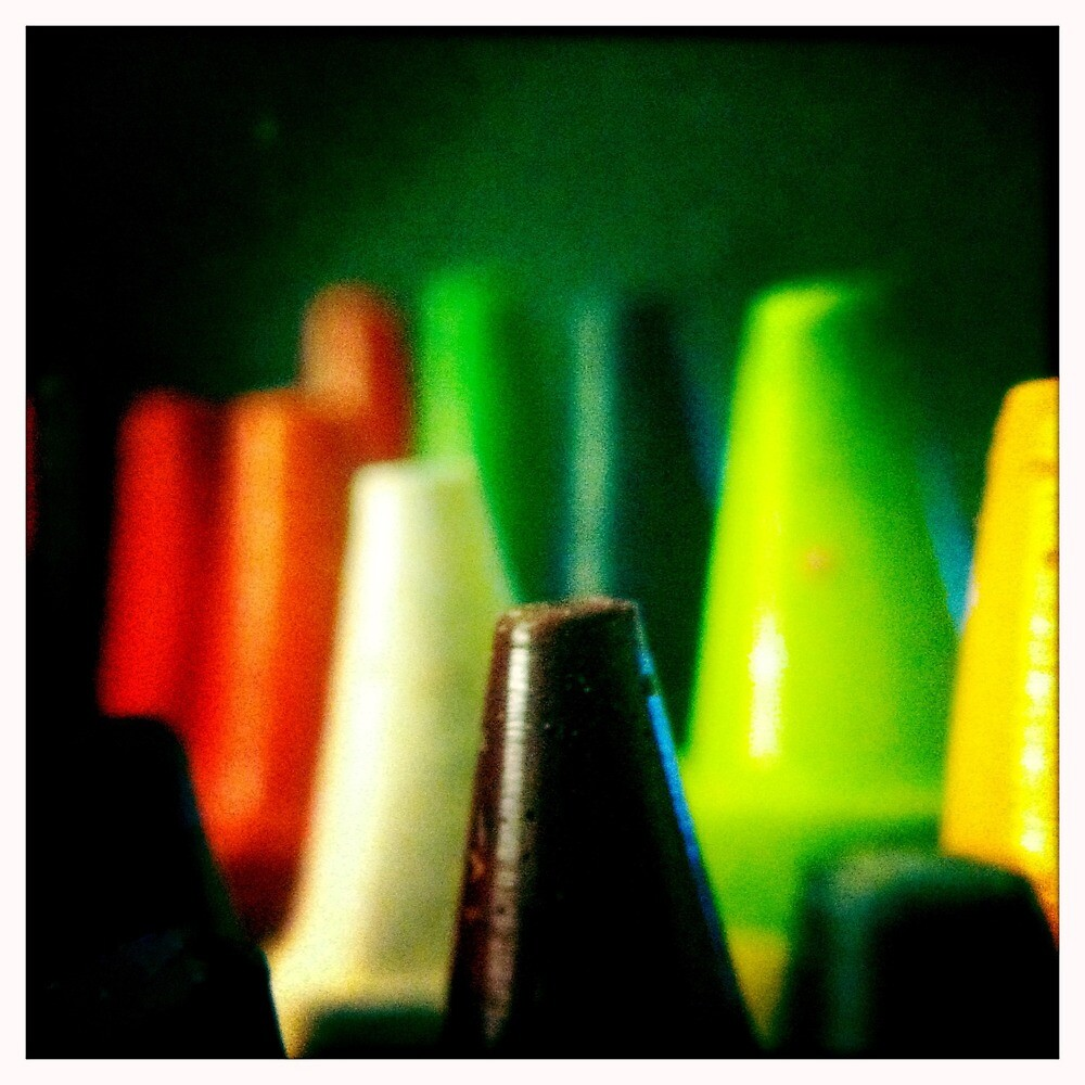 Crayons by hipstamatic