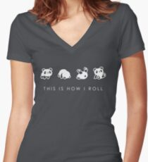 THIS IS HOW I ROLL Women's Fitted V-Neck T-Shirt