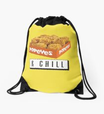 Popeyes and Chill? Drawstring Bag