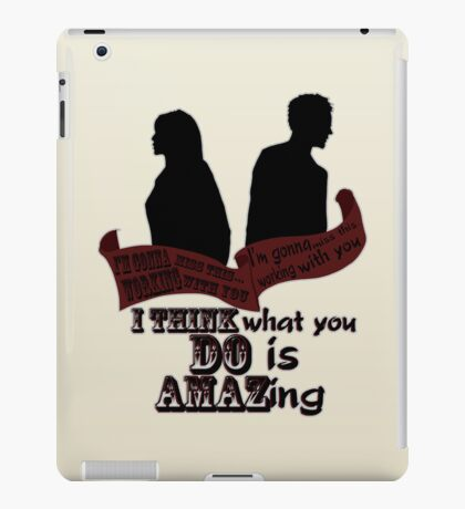 Working With You iPad Case/Skin