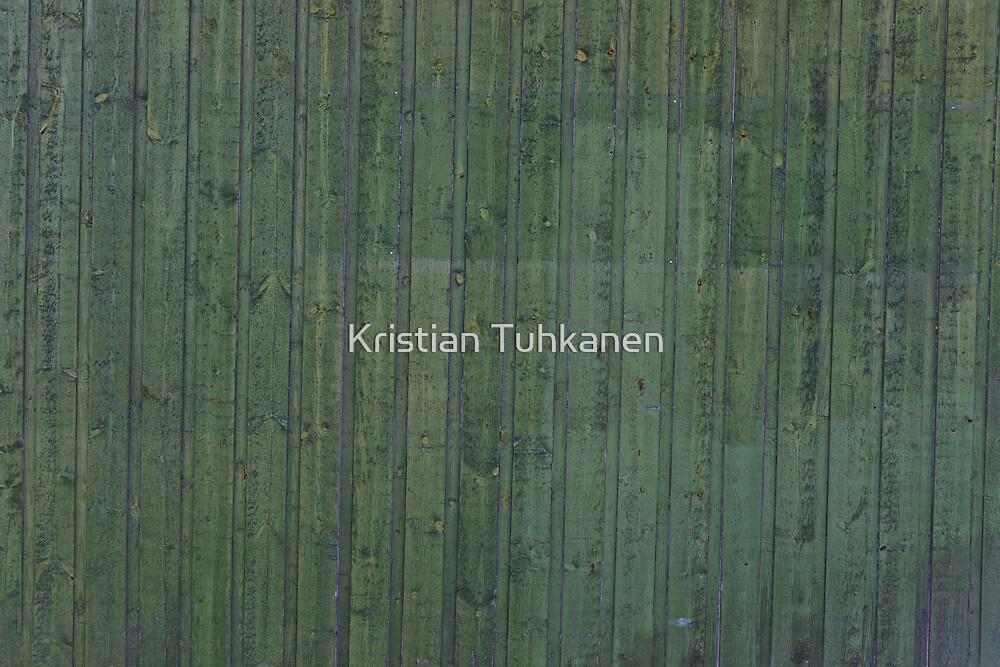Green plank wall by Kristian Tuhkanen