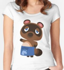 Tom Nook - Animal Crossing Women's Fitted Scoop T-Shirt