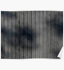 Black plank wall Poster