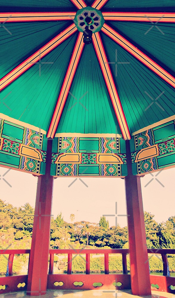 painted stand ( rainbow pavilion ) by emiliewho