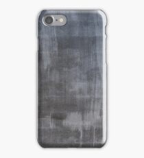 Gray plaster wall iPhone Case/Skin