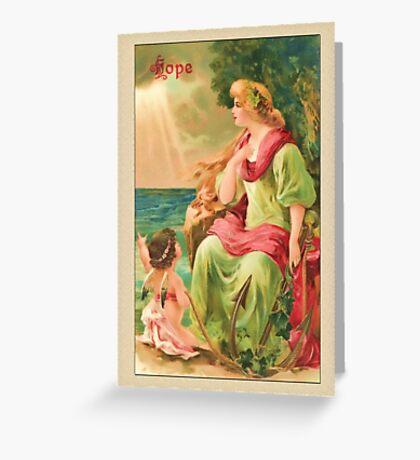 Vintage Angel Card-Hope Angel Greeting Card