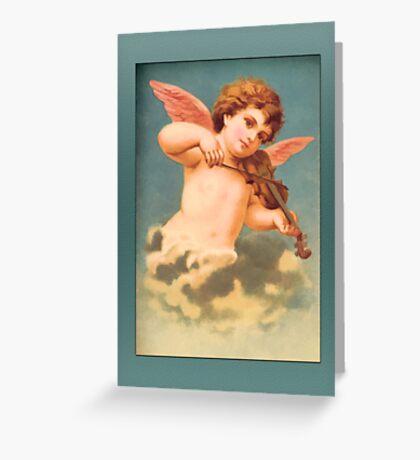 Vintage Angel Card-Angel with Violin Greeting Card