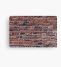 Old red brick wall Canvas Print