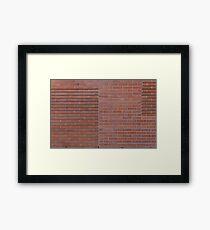 Red brick wall Framed Print
