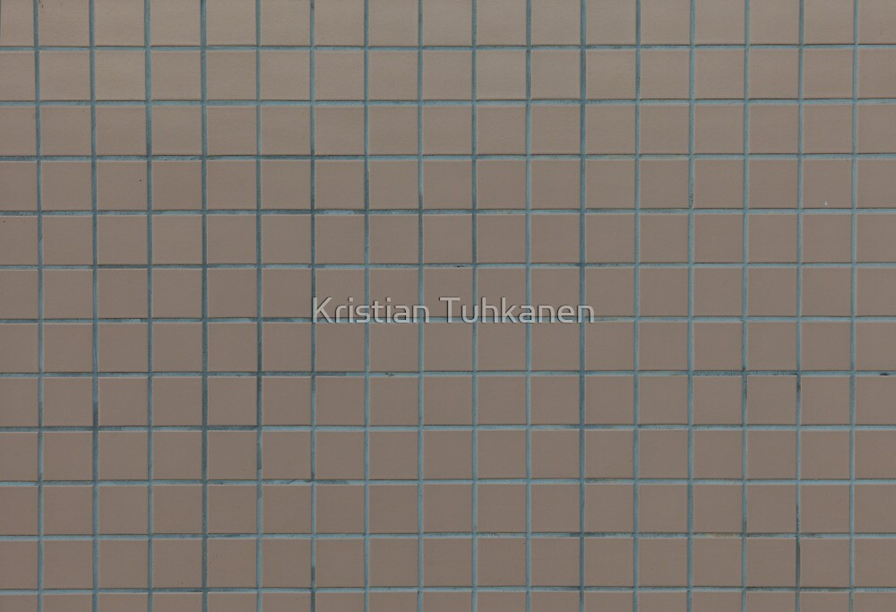 Square beige tiles by Kristian Tuhkanen