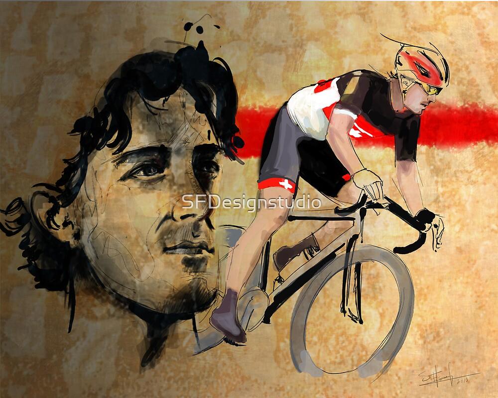 «Ciclismo Ilustración Fabian Cancellara print» de SFDesignstudio