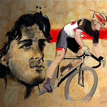 Ciclismo Ilustración Fabian Cancellara print de SFDesignstudio