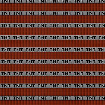 Minecraft TNT pattern Iphone case  by Monash93