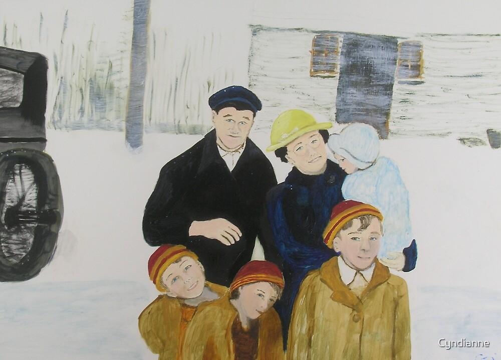 Bartlett Family ~1942 by Cyndi Gonzalez