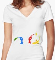 The Original Three Women's Fitted V-Neck T-Shirt