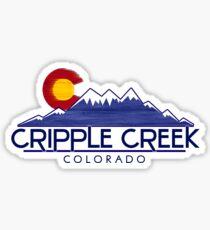 Cripple Creek Colorado wood mountains Sticker