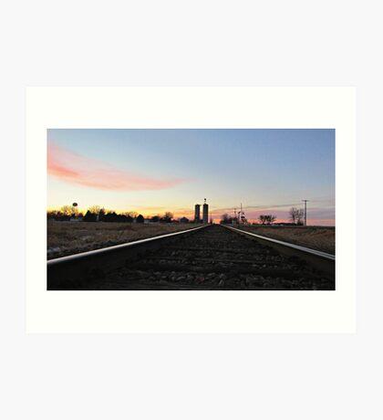 Prairie Rails Art Print