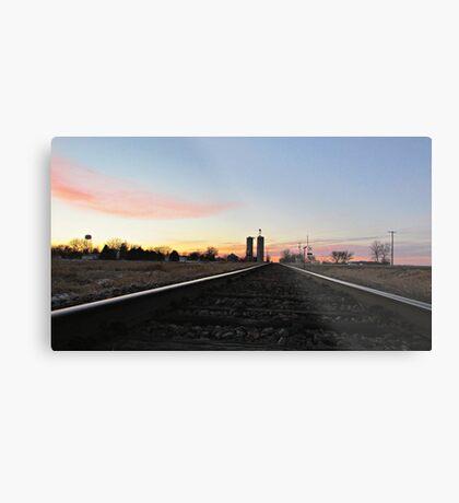 Prairie Rails Metal Print