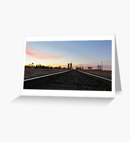 Prairie Rails Greeting Card
