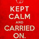 Kept Calm... Now What? (Red Variant) by themonkeylab