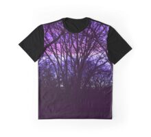 Purple Sunset Graphic T-Shirt