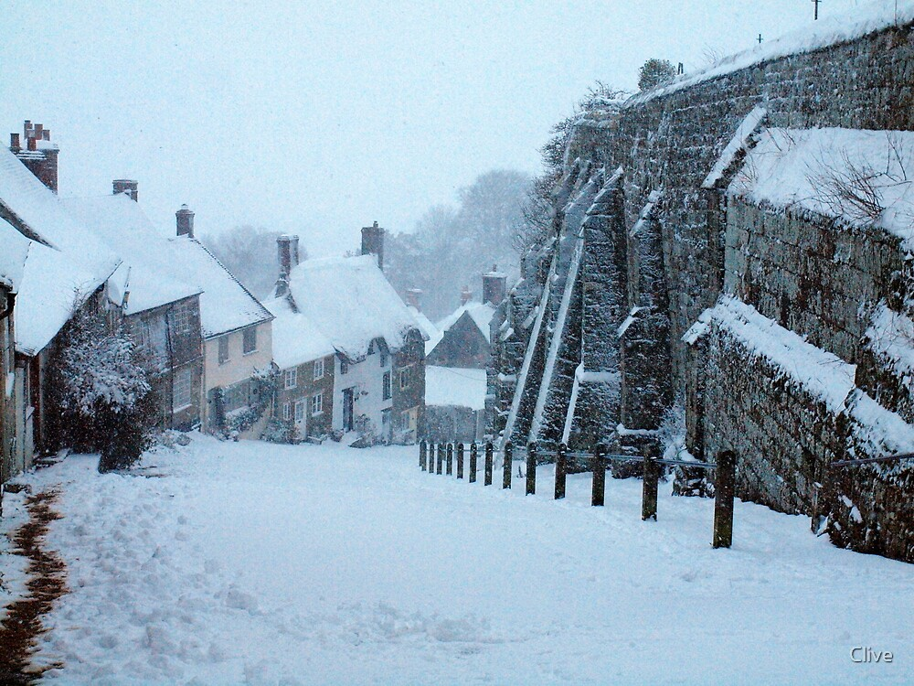 Gold Hill Winter Wonderland by Clive