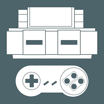 Let's Play SNES (White by innergeekdesign