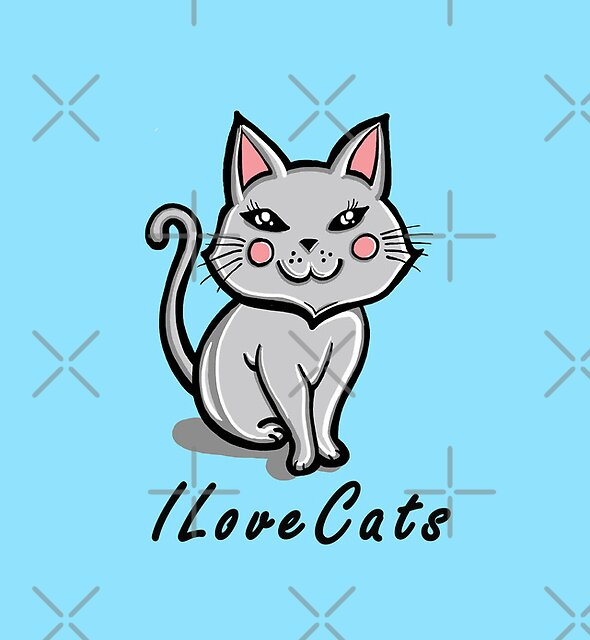 I Love Cats by Ameda
