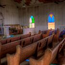 Inside the Jermyn, Texas Methodist Church by Terence Russell