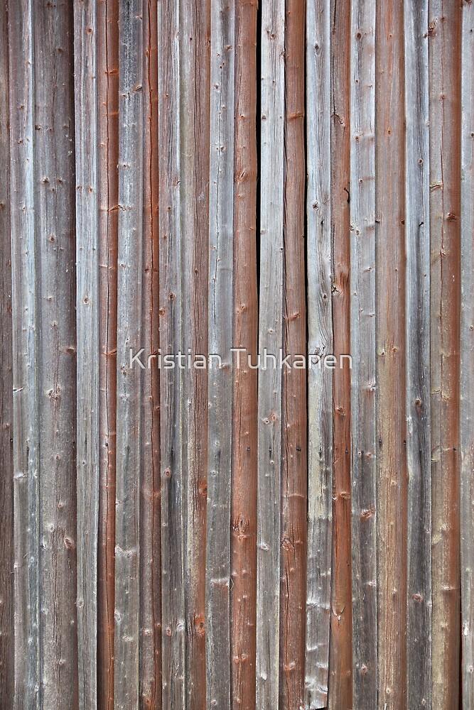 Old plank barn wall by Kristian Tuhkanen