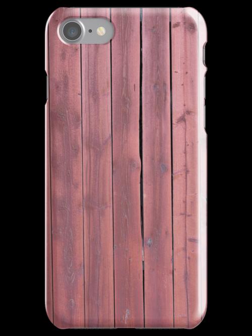 Old red plankd barn wall by Kristian Tuhkanen