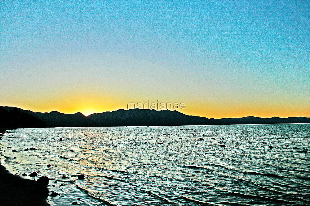 Lake Tahoe Sunset by mariajanae