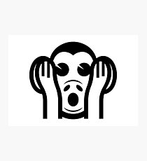 3 Wise Monkeys Kikazaru 聞かざる Hear NO Evil Emoji Photographic Print