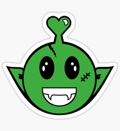 Alien Smiley VRS2 Sticker