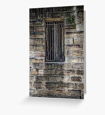 What's Behind the Door Behind the Window? Greeting Card