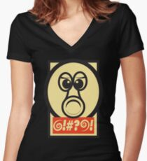 QBEY! Women's Fitted V-Neck T-Shirt
