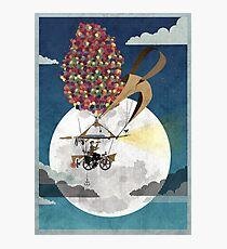 Flying Bicycle Photographic Print