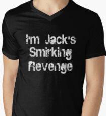 I'm Jack's Smirking Revenge White Lettering Mens V-Neck T-Shirt