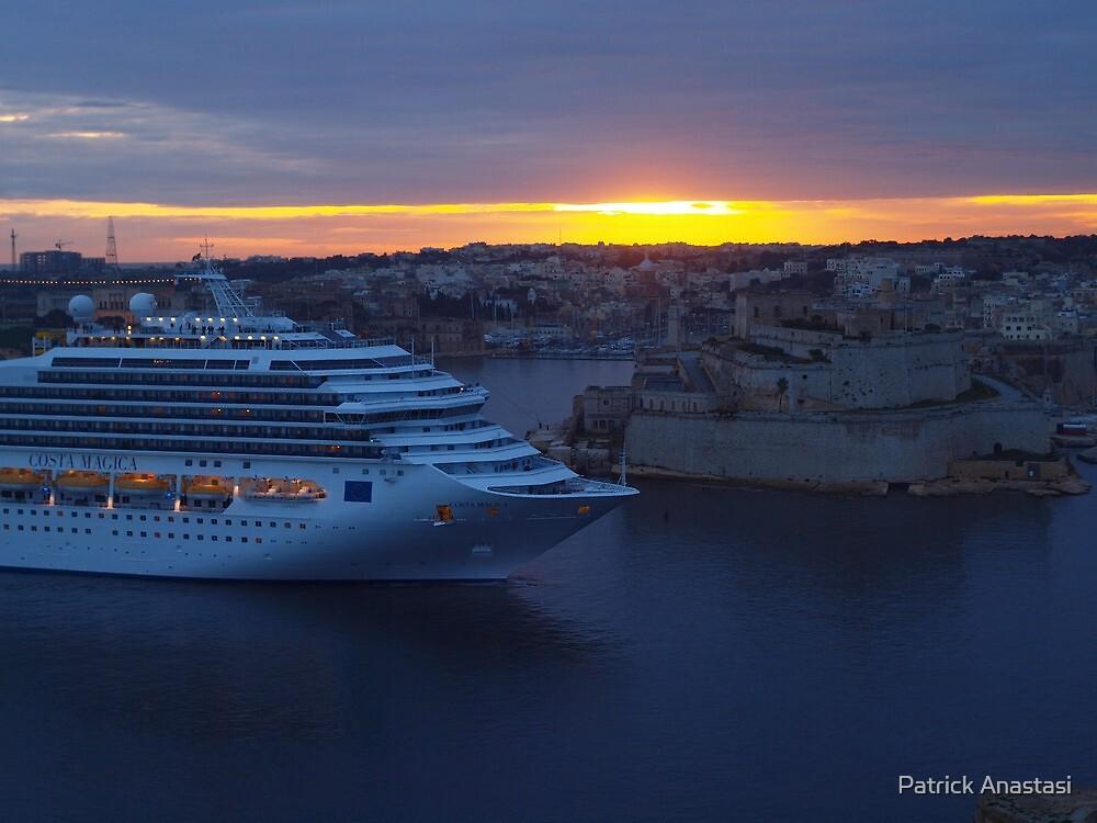 Grand Harbour Valletta - Costa Magica (2) by Patrick Anastasi