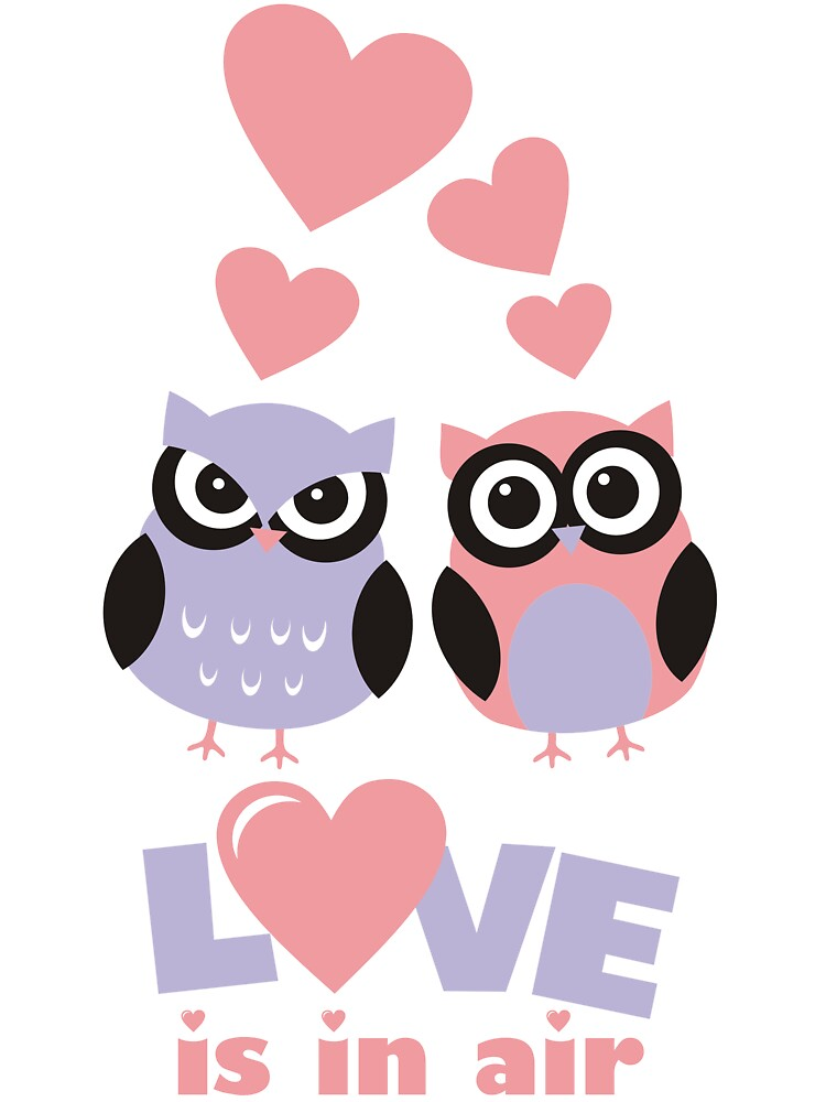 Love is in Air - Cute Owls  for Valentine Day  by nidahasa