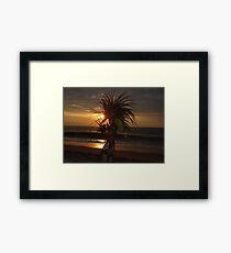 Aztec Worrior Dancing For The Sun - Guerrero Azteca Bailando Por El Sol Framed Print