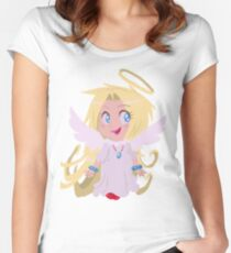 Blond Angel Girl Women's Fitted Scoop T-Shirt