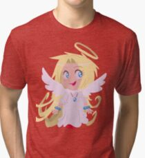 Blond Angel Girl Tri-blend T-Shirt