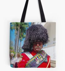 Man in scottish uniform at Whepstead Manor Open Day Tote Bag