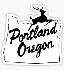 Portland Oregon Sign in Black Sticker