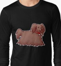 Fluffy Brown Puppy Dog Long Sleeve T-Shirt